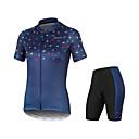 povoljno Biciklističke majice-Arsuxeo Žene Kratkih rukava Biciklistička majica s kratkim hlačama Navy Plava 3D likovi Bicikl Quick dry Sportski 3D likovi Brdski biciklizam Odjeća / Mikroelastično