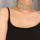 זול שרשרת אופנתית-בגדי ריקוד נשים שרשראות מחרוזת שרשרת טרנדי אופנתי אלגנטית Chrome זהב כסף 30 cm שרשראות תכשיטים 1pc עבור מתנה יומי קרנבל חגים פֶסטִיבָל