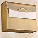 זול מחזיקי נייר טואלט-מחזיק נייר טואלט יצירתי מודרני פליז 1pc מותקן על הקיר