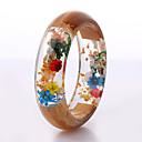זול סטים של תכשיטים-בגדי ריקוד נשים שרף צמידים שקוף פרח מסוגנן טבע סגנון חמוד שרף צמיד תכשיטים חום עבור חתונה Party מתנה / עץ