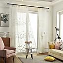 halpa Ikkunoiden verhot-kaksi paneelia lasten huone olohuone makuuhuone ruokasali kirjailtu verho