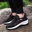 hesapli Kadın Atletik Ayakkabıları-Kadın's Atletik Ayakkabılar Dolgu Topuk Yuvarlak Uçlu Örümcek Ağı / Elastik Kumaş Sportif / Günlük Dağ Yürüyüşü / Yürüyüş İlkbahar & Kış / Kış Siyah / Drak Red / Gri / Zıt Renkli