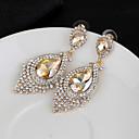 זול עגילים אופנתיים-בגדי ריקוד נשים עגילי טיפה אופנתי עגילים תכשיטים לבן / כחול / ורוד עבור חתונה ארוסים מתנה זוג 1
