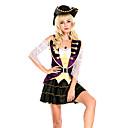 povoljno Movie & TV Theme Costumes-Pirates of the Caribbean Cosplay Nošnje Povorka maski Odrasli Žene Cosplay Halloween Halloween Festival / Praznik Mješavina pamuk / poliester purpurna boja Žene Karneval kostime