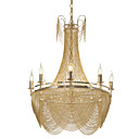 cheap Ceiling Lights-8 Lights Luxry Chandelier/ Alunmium Stream Pendant Lights/ Gold/ Silver Electroplating for Shop Room Living Room Restaurant/ LED5W E12/14 Warm White Light Included