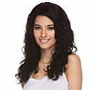 povoljno Perike s ljudskom kosom-Ljudska kosa Full Lace Perika Srednji dio stil Brazilska kosa Wavy Crna Perika 130% Gustoća kose Žene Žene Kratko Perike s ljudskom kosom Clytie