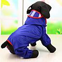 povoljno Odjeća za psa-Pas Kabanica Odjeća za psa Zelen Plava Light Pink Terilen Kostim Za Proljeće & Jesen Vodootporno