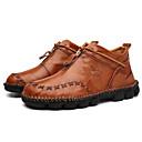 זול מגפיים לגברים-בגדי ריקוד גברים נעלי עור עור אביב קיץ יום יומי מגפיים נושם שחור / חום בהיר