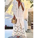 povoljno Stole za vjenčanje-Žene Elegantno Swing kroj Haljina Jednobojni Maxi