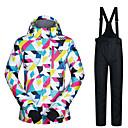 お買い得  スキーウェア-MUTUSNOW 女性用 スキージャケット&パンツ 防水 防風 ウォーム スキー スノーボード ウィンタースポーツ ポリエステル スーツウェア スキーウェア