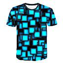 abordables Collier-Tee-shirt Homme, Bloc de Couleur / 3D / Graphique Imprimé Chic de Rue / Exagéré Bleu