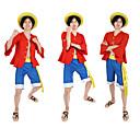 povoljno Anime kostimi-Inspirirana One Piece Monkey D. Luffy Anime Cosplay nošnje Japanski Cosplay Suits / Top / Kratke hlače / Traka / vrpca Za Uniseks