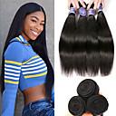 זול תוספות משיער אנושי-3 חבילות שיער פרואני ישר שיער ראמי 100% רמי שיער לארוג חבילות טווה שיער אדם הארכה שיער Bundle 8-28 אִינְטשׁ צבע טבעי שוזרת שיער אנושי יָלוּד חיים נשים תוספות שיער אדם