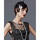 hesapli Eski Dünya Kostümleri-Charleston Vintage 1920s Gatsby Frapan Kafa Bandı Kadın's Kostüm Siyah / Altın / Kırmızı Eski Tip Cosplay Festival