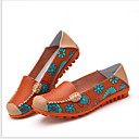 זול מוקסינים לנשים-בגדי ריקוד נשים נעליים ללא שרוכים שטוח בוהן עגולה מיקרופייבר קיץ שחור / לבן / פוקסיה