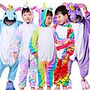 povoljno Anime kostimi-Dječji Kigurumi plišana pidžama Unicorn Leteći konj Sa životinjama Onesie pidžama Flis White+Blue / White+Pink / purpurna boja Cosplay Za Dečki i cure Zivotinja Odjeća Za Apavanje Crtani film