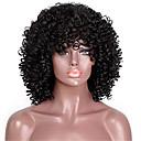 povoljno Perike s ljudskom kosom-Remy kosa Lace Front Perika stil Brazilska kosa Kinky Curly Crna Perika 150% Gustoća kose Crna Žene Kratko Perike s ljudskom kosom beikashang