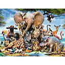 hesapli puzzle-Yapboz Fil Kuş Kale Ahşap Unisex Oyuncaklar Hediye