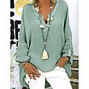 povoljno Modne ogrlice-Veći konfekcijski brojevi Bluza Žene Kauzalni Jednobojni V izrez Širok kroj Crn