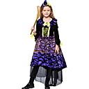 hesapli Dans kostümleri-Cadı Kostüm Genç Kız Peri Masalı Teması Cadılar Bayramı Performans Tema Partisi Kostümler Genç Kız Dans kostümleri Polyester Malzeme Kombini