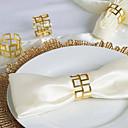 abordables Serviettes de Mariage-Fer Forgé Serviettes de mariage - 4 pcs Ronds de serviettes Mariage / Festival Thème classique / Créatif