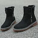 povoljno Ženske čizme-Žene Čizme Niska potpetica Okrugli Toe Koža Čizme gležnjače / do gležnja Ljeto Crn / Žutomrk