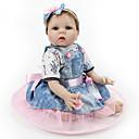 halpa Reborn Dolls-NPK DOLL Reborn Dolls Ball-yhdistetty nukke Reborn Toddler Doll Tyttövauvat 22 inch Turvallisuus Gift Sievä Lasten Unisex Lelut Lahja