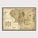 זול אומנות ממוסגרת-דפוס אומנות ממוסגרת סט ממוסגר - מפות פוליסטירן פוסטר וול ארט