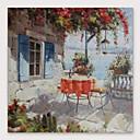povoljno Slike krajolika-Hang oslikana uljanim bojama Ručno oslikana - Sažetak Pejzaž Moderna Uključi Unutarnji okvir