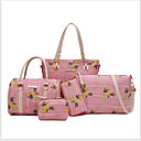 povoljno Komplet torbi-Žene Patent-zatvarač Poliester Bag Setovi Jedna barva 5 kom Crn / Braon / Blushing Pink