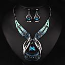 povoljno Modne naušnice-Žene Viseće naušnice Choker oglice Ogrlice s privjeskom 3D Jedinstven dizajn Vintage Naušnice Jewelry Plava Za Praznik 1set