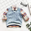 halpa Vauvojen Pojat yläosat-Vauva Poikien Perus Yhtenäinen Hihaton / Pitkähihainen Toppi ja paituli Vaalean sininen