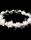abordables robe mariage civil-coiffes mariage fille fleur couronne avec de belles fleurs