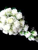 Χαμηλού Κόστους Βραδινά Φορέματα-Λουλούδια Γάμου Καταρράκτης Κρίνοι Μπουκέτα Γάμος Πάρτι/ Βράδυ Σατέν Ροζ Λευκό Πορτοκαλί