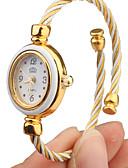 hesapli Kuvars Saatler-Kadın's Moda Saat Bilezik Saat altın saat Quartz Beyaz Analog Halhal Zarif - Altın Beyaz Bir yıl Pil Ömrü / Tianqiu 377