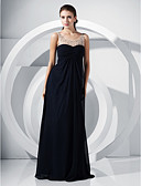 Χαμηλού Κόστους Βραδινά Φορέματα-Γραμμή Α / Πριγκίπισσα Scoop Neck Μακρύ Σιφόν Επίσημο Βραδινό Φόρεμα με Χάντρες / Που καλύπτει / Δαντέλα με TS Couture®