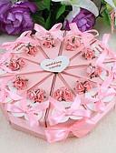 رخيصةأون هدايا المساند للحضور-دائري مربع هرم أوراق البطاقة صالح حامل مع شرائط طبع زهور صناديق هدايا - 10