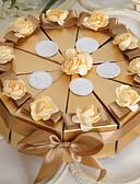 abordables Soportes para Regalo-Pirámide Papel perlado Soporte para regalo  con Cintas Flor Cajas de regalos