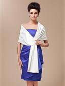 baratos Vestidos de Coquetel-Seda / Cetim Casamento / Festa / Casual Wraps casamento / Xales / Estolas Femininas Com Em Camadas Xales