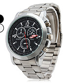 ieftine Ceasuri Digitale-Bărbați Ceas de Mână Quartz Ceas Casual Aliaj Bandă Analog Charm Argint - Alb Negru