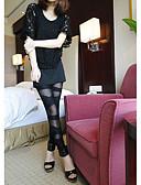 baratos Leggings para Mulheres-Mulheres Com Rasgos Legging - Floral Cintura Média