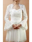 ieftine Bolerouri de Nuntă-Manșon Lung Dantelă Nuntă Petrecere / Seară Wraps de nunta Paltoane / Jachete