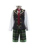 זול שמלות נשים-קיבל השראה מ Pandora Hearts Oz Vessalius אנימה תחפושות קוספליי חליפות קוספליי טלאים שרוול ארוך אפוד חולצה קשר מכנסיים קצרים עבור בגדי