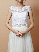 cheap Wedding Wraps-Sleeveless Lace Party Evening Wedding  Wraps Vests