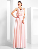 cheap Evening Dresses-A-Line / Princess Scoop Neck Floor Length Chiffon Vintage Inspired / Keyhole Prom / Formal Evening Dress with Beading / Criss Cross by TS Couture®