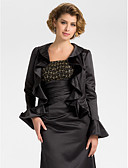 cheap Women's Sweaters-Long Sleeve Satin Wedding / Party Evening Wedding  Wraps With Coats / Jackets