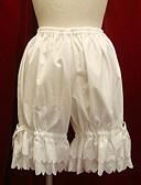 Χαμηλού Κόστους Βραδινά Φορέματα-Παντελόνια Γοτθική Λολίτα / Γλυκιά Λολίτα / Κλασσική / Παραδοσιακή Lolita Λευκό / Μαύρο Αξεσουάρ Lolita Βαμβάκι / Λολίτα Πανκ