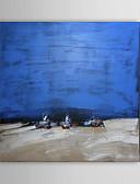 levne Hodinky k šatům-Hang-malované olejomalba Ručně malované - Krajina Současný styl Plátno