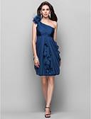 povoljno Koktel haljine-Kroj uz tijelo Na jedno rame Do koljena Šifon Koktel zabava Haljina s Drapirano padajuće / Cvijet po TS Couture®