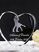 cheap Wedding Dresses-Cake Topper Classic Theme Hearts Crystal Wedding Anniversary With Gift Box